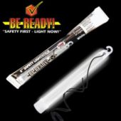 "6"" White ""Be Ready"" Safety Light Stick"