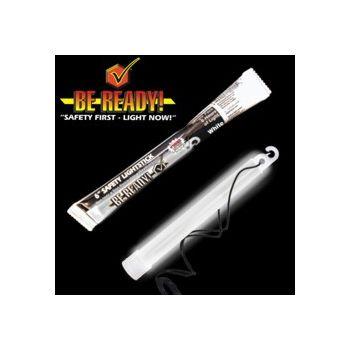 ''be Ready'' White 6'' Safety Light Stick