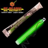 "6"" Green ""Be Ready"" Safety Light Stick"