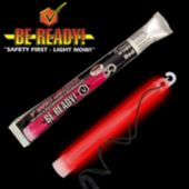"6"" Red ""Be Ready"" Safety Light Stick"