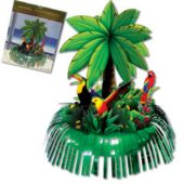 Palm Tree Fringe Centerpiece-13""