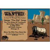 Western Wanted  Personalized Invitations