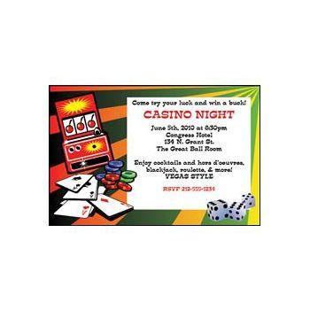 Casino Jackpot Personalized Invitations