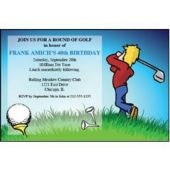 Golfer On The Tee Personalized Invitations