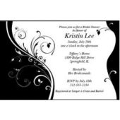 Black & White Sophisticate Personalized Invitations