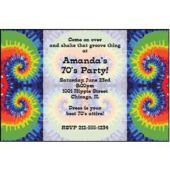 Woodstock Tie Dye Personalized Invitations