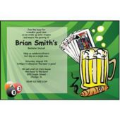 Men's Night Out Personalized Invitations