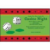Casino Night Dice Personalized Invitations