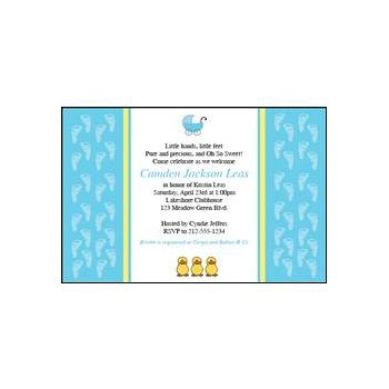 It's a Boy Personalized Invitations