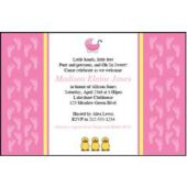 Our Baby Girl Custom Invitations