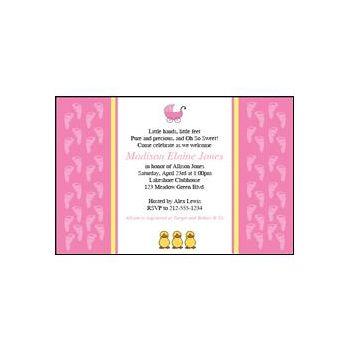 Our Baby Girl Custom Invitations