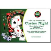 Casino Games Personalized Invitations