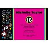 Sixteen Birthdays Personalized Invitations