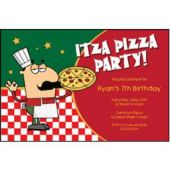 Itza Pizza Party Personalized Invitations