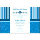 Sophisticated Blue  Personalized Invitations