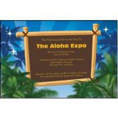 Palm Trees Personalized Invitations