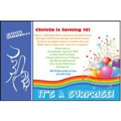 Surprise Birthday Blue Personalized Invitations