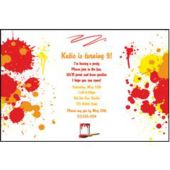 Paint Party Personalized Invitations