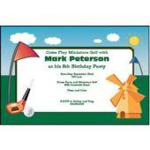 Miniature Golf Personalized Invitations