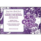 Purple Sparkle  Personalized Invitations