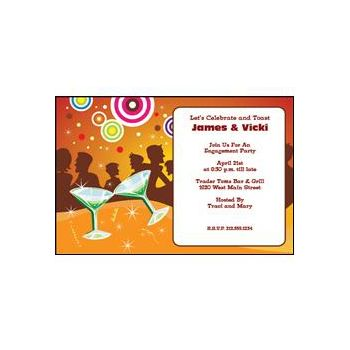 Martini Party Personalized Invitations