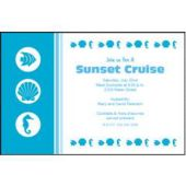 Nautical Blue Personalized Invitations