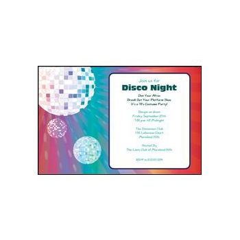 Disco Ball Personalized Invitations
