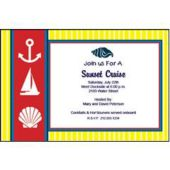 Nautical Stripes Personalized Invitations