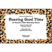 Cheetah Personalized Invitations