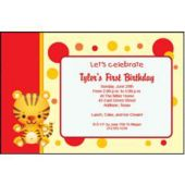 Tiger Red Personalized Invitations