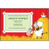 Barnyard Personalized Invitations