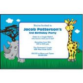 Juvenile Safari Personalized Invitations