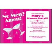No Men Amen Personalized Invtiations