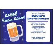 Amen Single Again Personalized Invitations