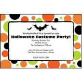 Halloween Circles Personalized Invitations