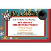 It's A Strike  Personalized Invitations