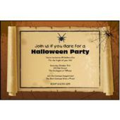 Spider Web Scroll Personalized Invitations