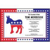 Democratic Party Personalized Invitations