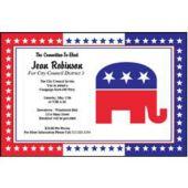Republican Party Personalized Invitations