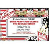Popcorn Personalized Invitations