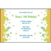 Butterfly Border Personalized Invitations