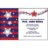 Patriotic Stripes Personalized Invitations