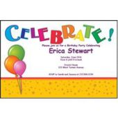 Colorful Celebration Personalized Invitations
