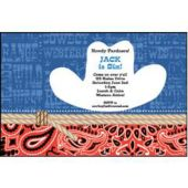 Western Bandana Personalized Invitations