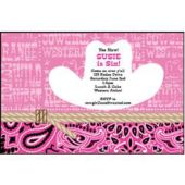 Pink Cowgirl Personalized Invitations