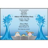 Pool Party Splash Personalized Invitations