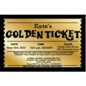 Golden Ticket Personalized Invitations