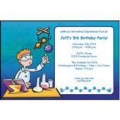 Science Experiment Personalized Invitations