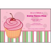 Cupcake Celebration Personalized Invitations