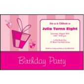 Pink Birthday  Personalized Invitations